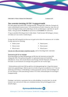 EM i truppgymnastik 2018 - pressinfo