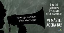 7 av 10 svenska startups riskerar att försvinna inom 6 månader - vi måste agera nu!
