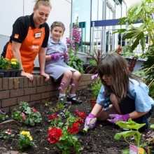 We've teamed up with B&Q and local children to plant a new garden at Sevenoaks