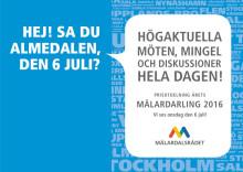 Mälardalsrådet i Almedalen 6 juli