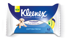 Introducing the new and improved Kleenex Flushable Wipes for the ultimate clean