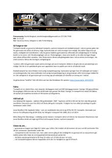 Fakta om trampolin & DMT och SM-tävlingarna