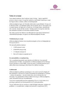 Fakta om e-recept, i Sverige och över gränserna