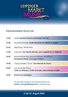 Leipziger Markt Musik - Porgramm - Tagesbeispiel