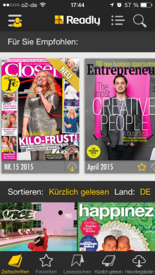 Readly personalisiert die digitale Zeitschriftenlektüre mit individuellen Empfehlungen