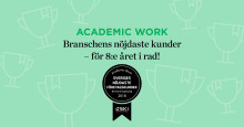 Academic Work har fortsatt branschens nöjdaste kunder