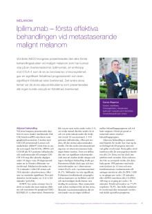 Malignt melanom - överläkare Gunnar Wagenius rapporterar från ASCO 2010