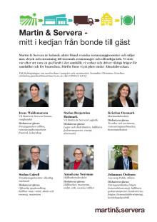 Vilka från Martin & Servera deltar i Almedalen 2019