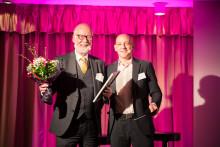 Rolf Lundström, grundare av Provobis tilldelades utmärkelsen Årets Förebildsentreprenör på Entreprenörsgalan Väst