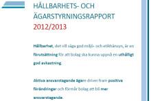 AP4:s Hållbarhets- och ägarstyrningsrapport 2012/2013