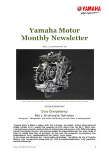 Yamaha Motor Monthly Newsletter No.31(July 2015) Core Competency