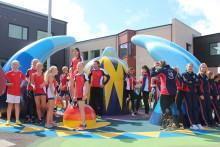 Invigning av Trönninge skola och Trestegets idrottscentrum