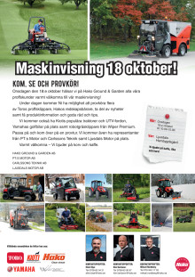 Maskinvisning i Ljusdal 18 oktober.