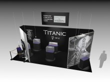 Minnesutställning av Titanic på Antikmässan