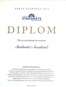 Stadsnät i Svealand utsett till Årets Stadsnät 2013