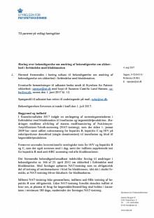 Høring over ændring af bekendtgørelse om sikkerhed i forbindelse med bloddonation