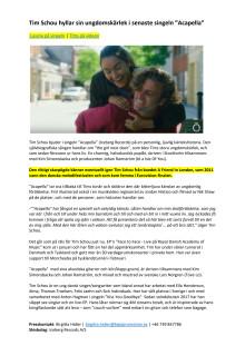 "Tim Schou hyllar sin ungdomskärlek i ""Acapella"""
