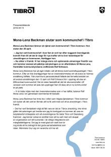 Mona-Lena Beckman slutar som kommunchef i Tibro kommun