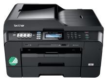 Proffsigt informationsmaterial i A3 med nya Svanenmärkta multifunktionsmaskiner från Brother