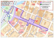 Gång- och cykeltrafik under Race Day 7-12 september 2016