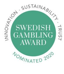 Elva finalister i årets omgång av Swedish Gambling Award