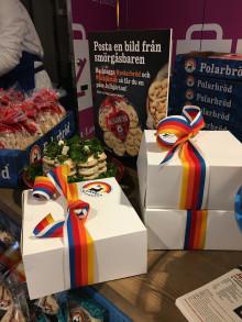 Polarbröd invigde nya smörgåsbaren på Stockholms Central med Julhjärtan och Jubileumskaka
