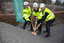 Byggstart för kvarteret Fäboden i Rågsved