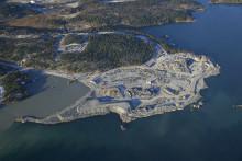 Forsens mest erfarna bergsexpert sköter byggledningen när det sprängs i Norvik