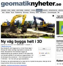 Geomatiknyheter.se - Ny väg byggs helt i 3D