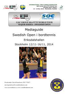 Mediaguide SOC i Stockholm 2014 med tidsschema - uppdaterad 11 november