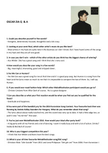 Oscar Zia Human  Q & A