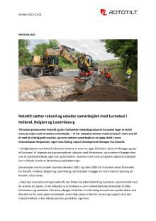 Rototilt sætter rekord og udvider samarbejdet med Eurosteel i Holland, Belgien og Luxembourg