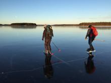 Glasklar premiär för populär isbana
