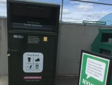 Textilbehållare för insamling på alla återvinningscentraler