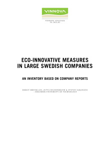 Eco-innovative measures in large Swedish companies