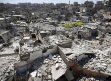 Syrien: Oljefatsbomber tvingar befolkningen att fly under jord