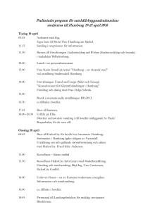 Samhällsbyggnadsnämndens studieresa till Hamburg - preliminärt program