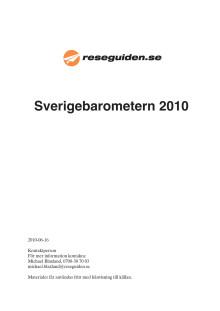 Reseguidens Sverigebarometer 2010 - hela sommarstadslistan