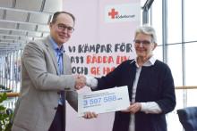 Swedavias resenärer och medarbetare samlade in miljonbelopp till Röda Korset