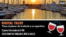 Degustación de vino español en el stand 754 de Digital Yacht