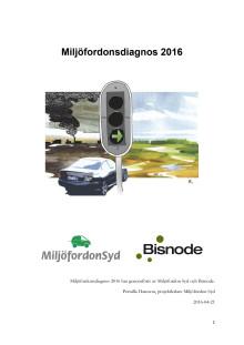 Rapport Miljöfordonsdiagnosen 2016