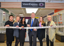 Local MP Andrew Rosindell joins Vision Express to officially open its new optical store at Tesco in Romford