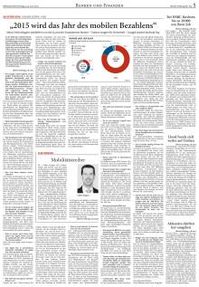 Interview der Börsen-Zeitung mit Volker Koppe zum Thema mobiles Bezahlen