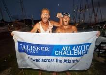 Jimmy och Fredrik, Team Prosecta, lyckades med bedriften att ro över Atlanten