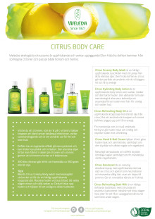 Samlingsblad Citrus Body Care