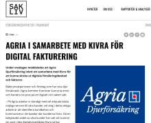 Sak och liv skriver om Agrias samarbete med Kivra