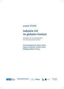 Studie Industrie 4.0 im globalen Kontext: Strategien der Zusammenarbeit mit internationalen Partnern