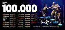 Fredericia Teaters produktion af Disneys Musical TARZAN runder 100.000 solgte billetter og nærmer sig udsolgt i Fredericia