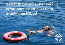 225 000 personer i Sverige har verklig erfarenhet av ett eller flera drunkningstillbud
