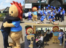 Team Leo mascot helps Milton Keynes-based recruiter fundraise for Wear it Blue Day